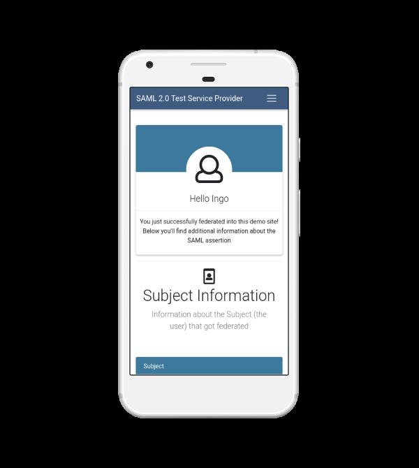 SAML 2 0 Test Service Provider